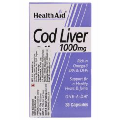 HealthAid Cod Liver Oil 1000mg (30 capsules)